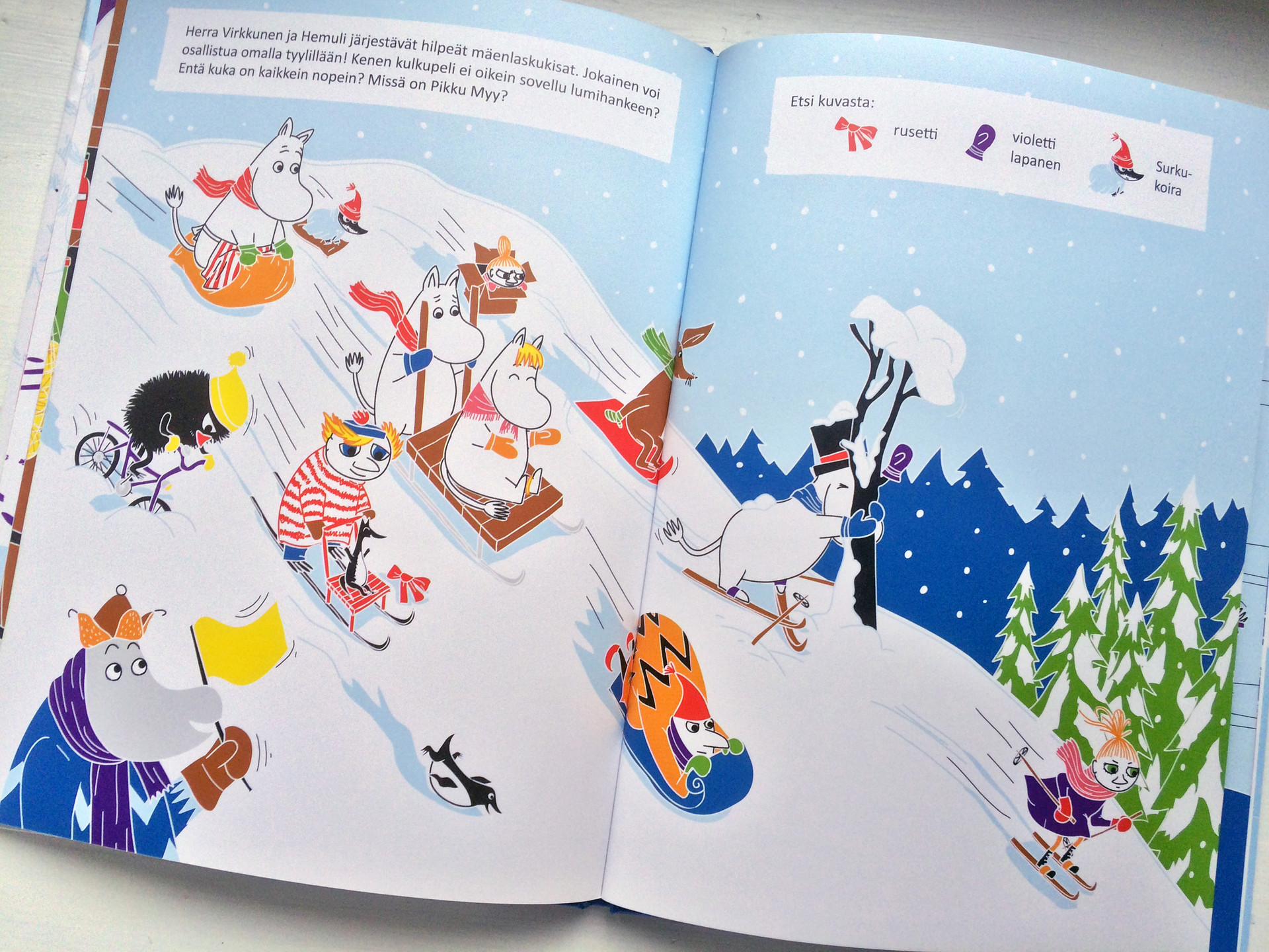 Moomin books (Illustration and layout), Tammi Publishers, 2013–2016