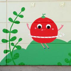 Palosaari playschool murals, City of Vaasa, 2019