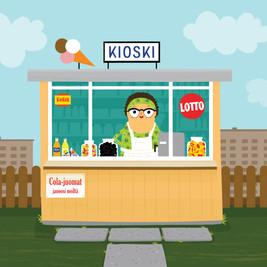 Illustrations for Markalla merkkareita project, Keski-Uudenmaan kunnalliset museot, 2018