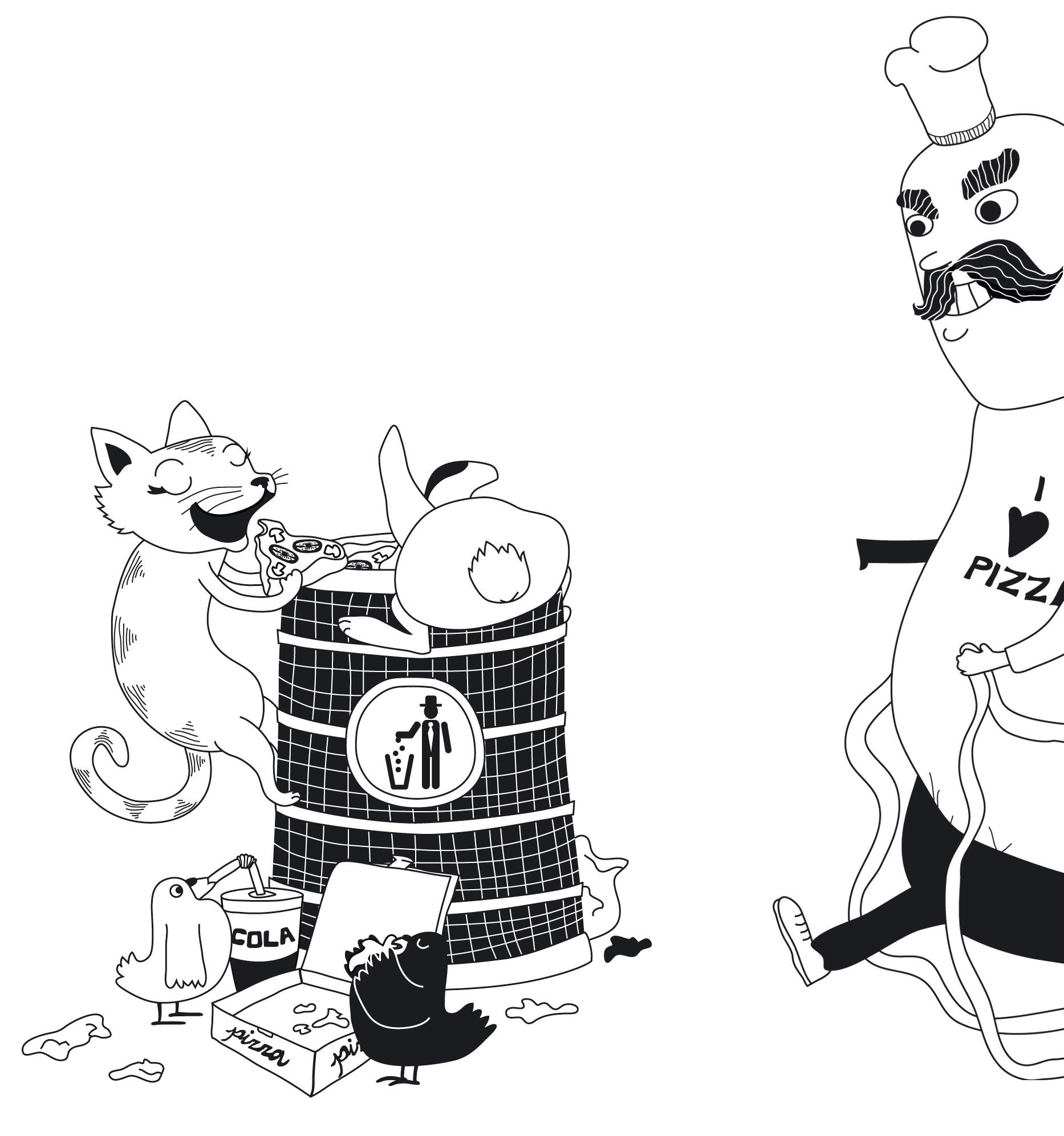 Illustrations for Siti-jänis ja Kesä-kissa book, WSOY, 2009