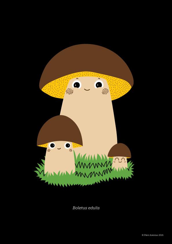 Herkkutatti, Berry & Mushroom posters, 2016