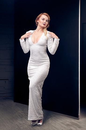 White Sequin Dress