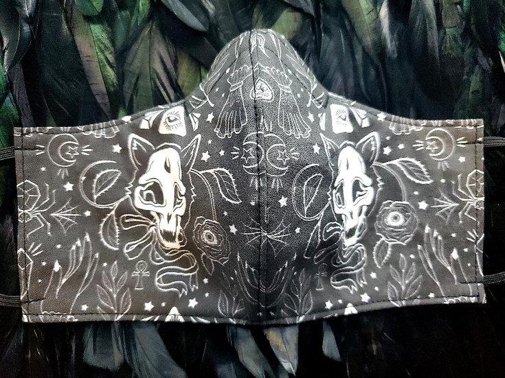 Cat Skull Face Mask