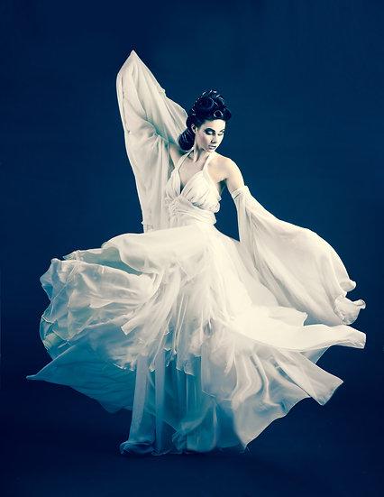 White Chiffon Ethereal Dress