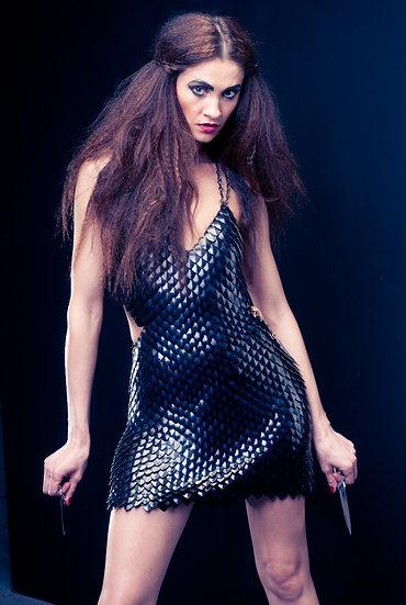 Black Scale Maile Dress