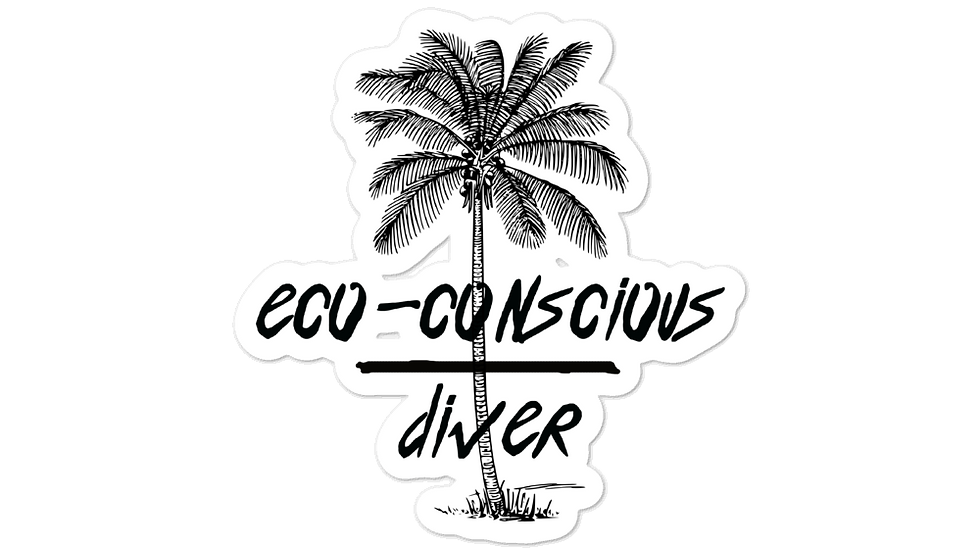 Eco-Conscious Diver x Black Stickers
