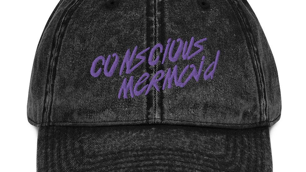 Conscious Mermaid x Vintage Cotton Twill Cap