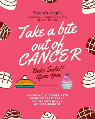 "Saturday October 28th: ""Take a bite out of CANCER"" Bake Sale at Prince's Farm Stand fr"