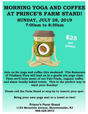 Sun., 7/28: Morning Yoga and Coffee