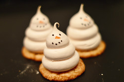 frenchie snowman biscuits