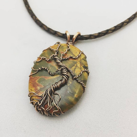 Picasso Jasper Tree of Life Necklace