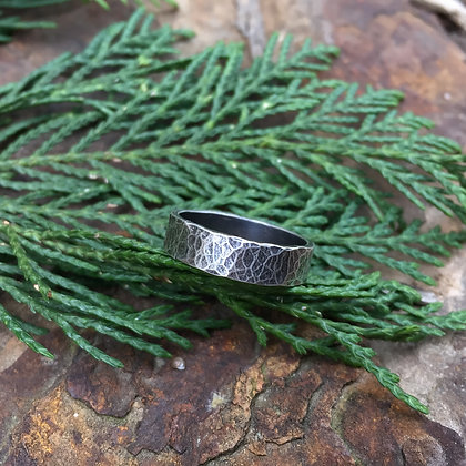 Hammered Sterling Silver Ring (Size 7.75)