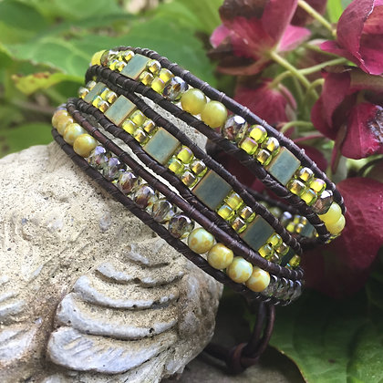 Mixed Greens 3x Seed Bead Wrap