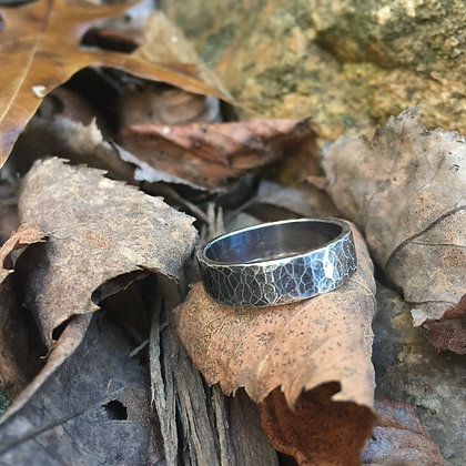 Hammered Sterling Silver Ring (Size 7)