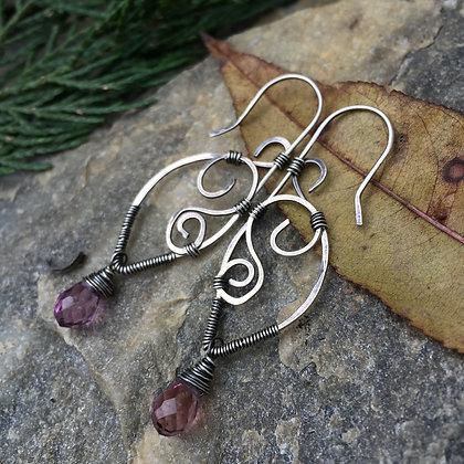 Faceted Quartz Wirework Earrings