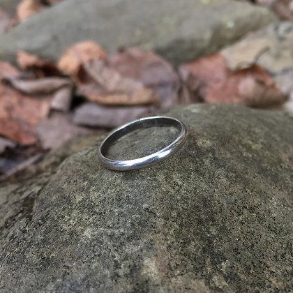 Medium Sterling Silver Stacker Ring