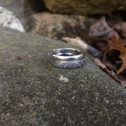 Textured Scroll Ring Set (Size 6.25)