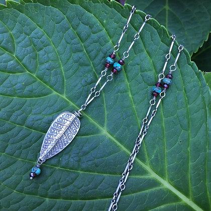Thai Fine Silver Fern Leaf Necklace