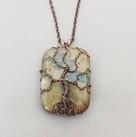 Aqua Terra Tree of Life Necklace