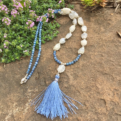 Moonstone & Kyanite Mini Mala