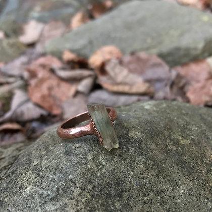 Electroformed Scapolite Crystal Ring (Size 6)
