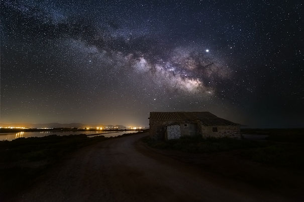 Starry night in porto botte