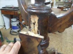 Danni strutturali tavolo