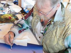 Carl beim Malen