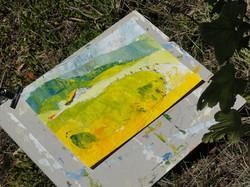 Yvonne Riederer, vor Ort gemalt