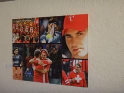Daniela, Handsignierte Federer-Fotos