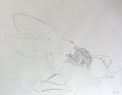 Aktzeichnung,  Kugelschreiber,  2