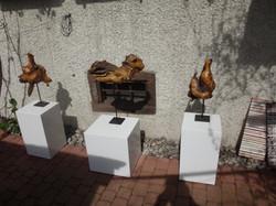 Holzskulpturen von Ruschy