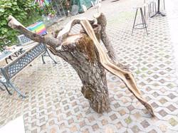 Nussbaumholz bearbeitet, Ruschy