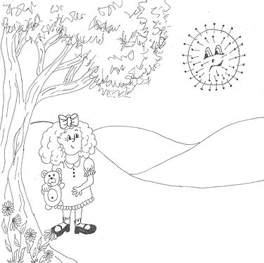 Anna and the Germ-coloring page