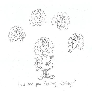 Anna and feelings- coloring page