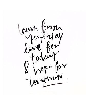 learn, live & hope.