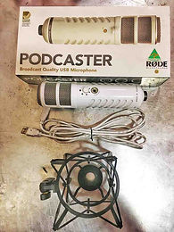 Rode podcaster microphone & shock mount.