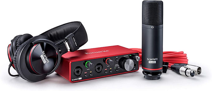 Focusrite Scarlett 2i2 Studio (3rd Gen) USB Audio Interface and Recording Bundle
