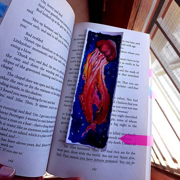 Just a lil bookmark I painted. 😊 . . #b