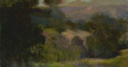 """A Malibu Spring,"" 19 x 36, oil"