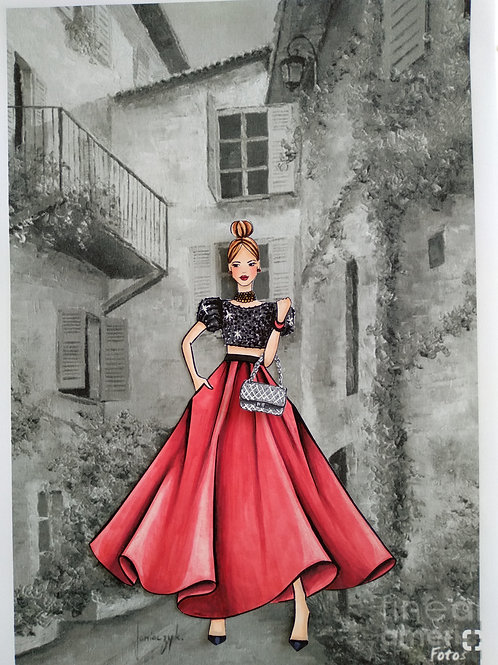 Pintura com Copic - Bel Red Carpet