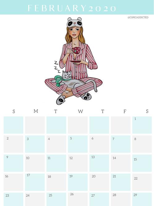 Calendário Fevereiro 2020