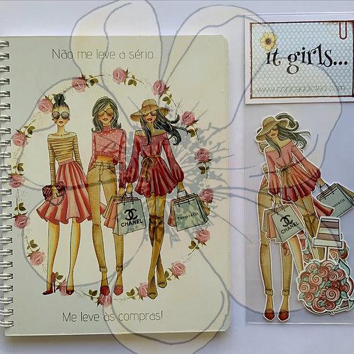 Caderno M  + Pré cortados - Me leve às compras