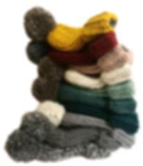 Handmade winter bobble hats