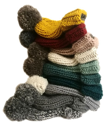 Handmade winter bobble hats