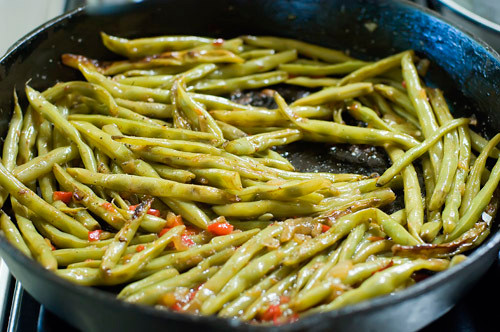 green beans, one way