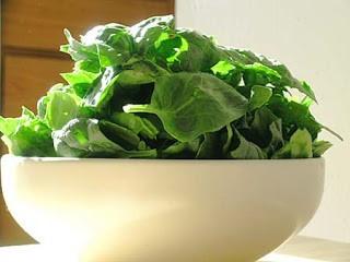 bowl of salad greens