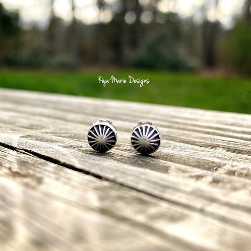 Shell studs/limpet shell abstract earrings/recycled silver earrings/argentium si