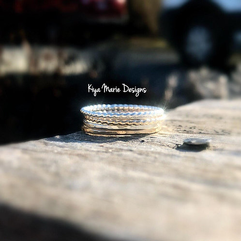 Argentium Silver & Gold Filled Stacking Rings