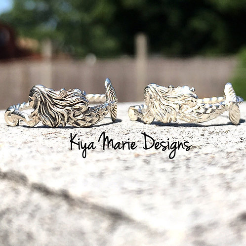 Mermaid Ring, Sterling Silver Mermaid Ring, Mermaid jewelry, Ocean Jewelry, Sea